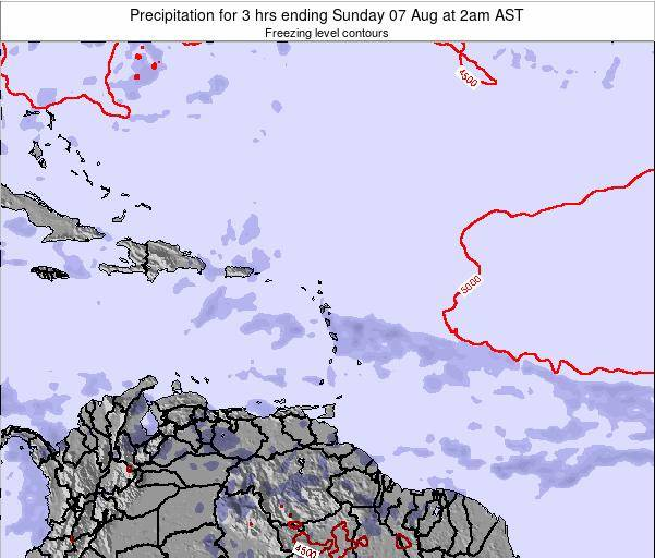 Montserrat Precipitation for 3 hrs ending Sunday 19 May at 8pm AST