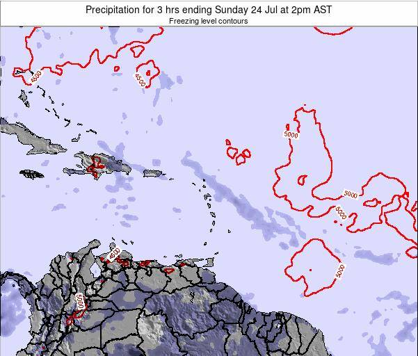 Guadeloupe Precipitation for 3 hrs ending Tuesday 11 Dec at 8pm AST map