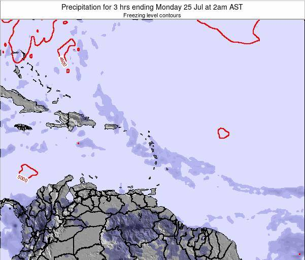 British Virgin Islands Precipitation for 3 hrs ending Thursday 23 May at 8am AST