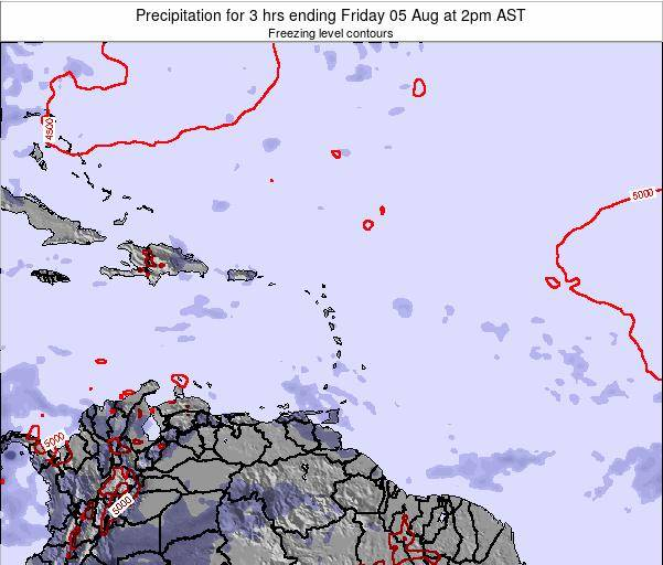 Saint Kitts and Nevis Precipitation for 3 hrs ending Saturday 18 May at 8pm AST