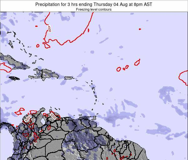 Puerto Rico Precipitation for 3 hrs ending Thursday 23 May at 8pm AST