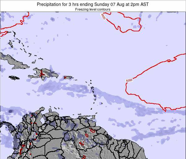 British Virgin Islands Precipitation for 3 hrs ending Sunday 22 Dec at 2pm AST