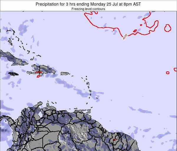 US Virgin Islands Precipitation for 3 hrs ending Saturday 25 May at 8am AST
