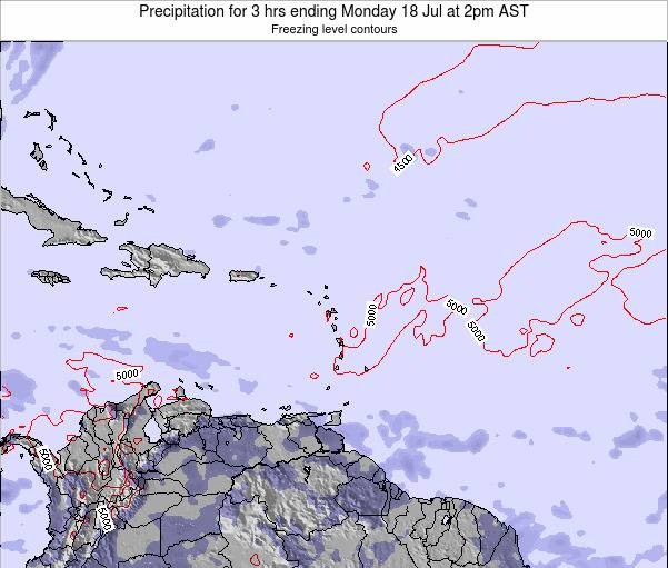 British Virgin Islands Precipitation for 3 hrs ending Saturday 26 Apr at 8am AST