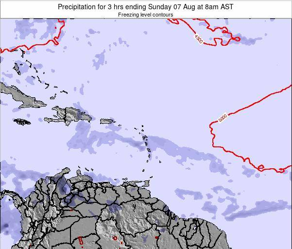 British Virgin Islands Precipitation for 3 hrs ending Thursday 24 Jul at 2pm AST