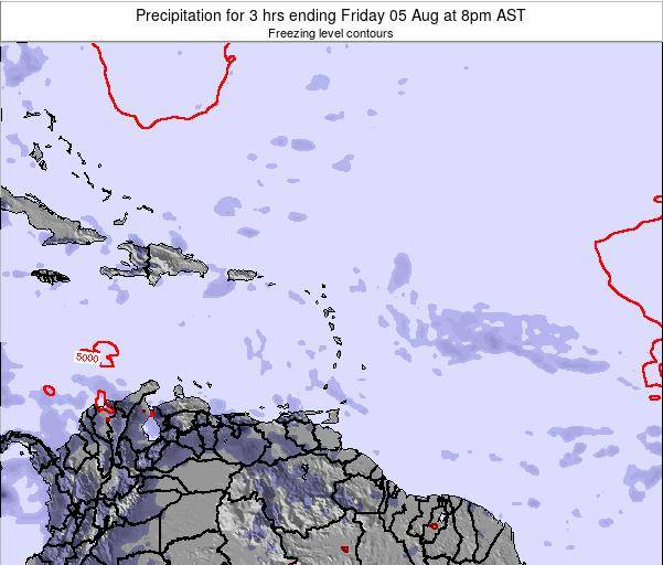 Montserrat Precipitation for 3 hrs ending Wednesday 22 May at 8am AST map