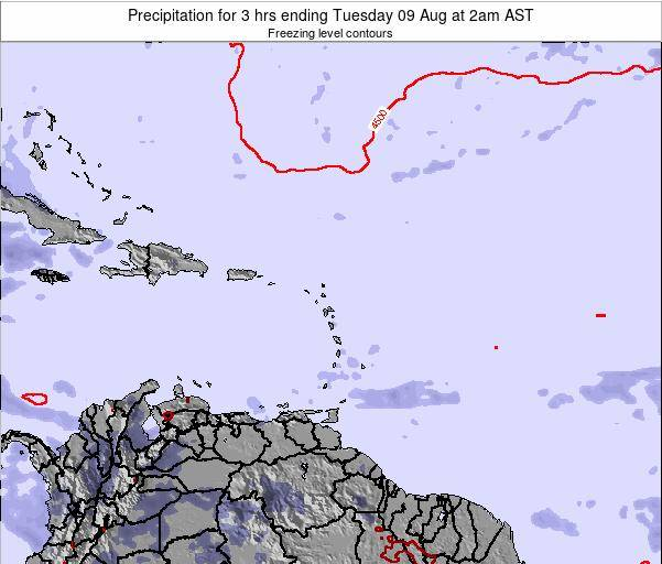 Montserrat Precipitation for 3 hrs ending Tuesday 21 May at 8pm AST