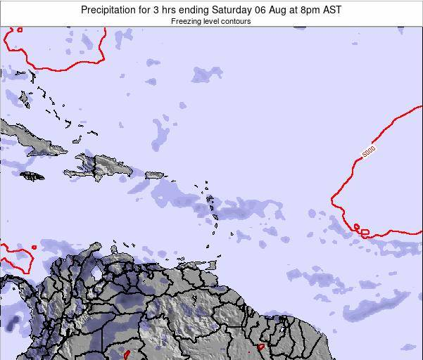 British Virgin Islands Precipitation for 3 hrs ending Wednesday 26 Nov at 8pm AST