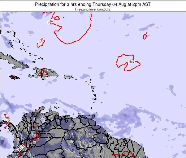 Puerto Rico Precipitation for 3 hrs ending Friday 21 Jun at 8pm AST