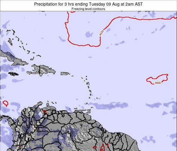 British Virgin Islands Precipitation for 3 hrs ending Friday 24 May at 2pm AST