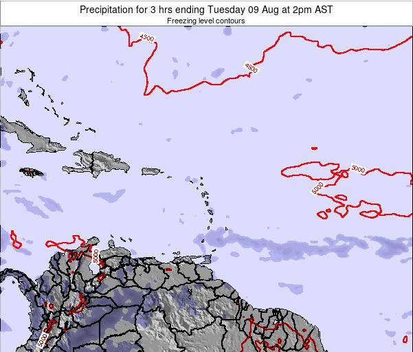 Saint Kitts and Nevis Precipitation for 3 hrs ending Friday 24 May at 2am AST