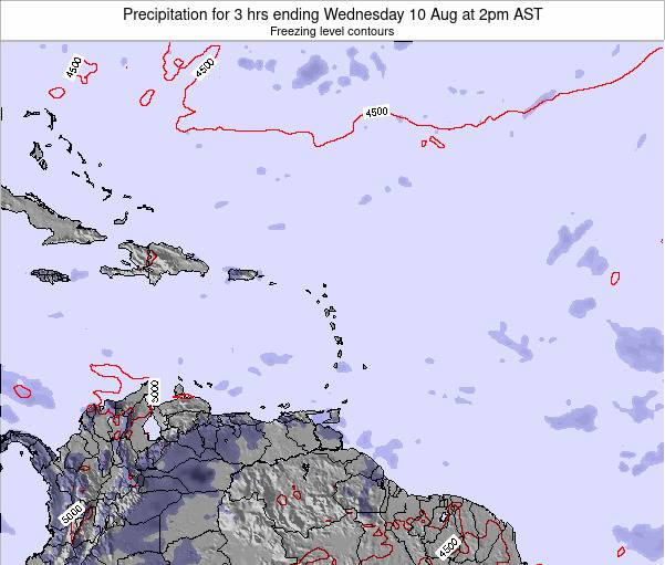 Saint Kitts and Nevis Precipitation for 3 hrs ending Wednesday 12 Mar at 8pm AST