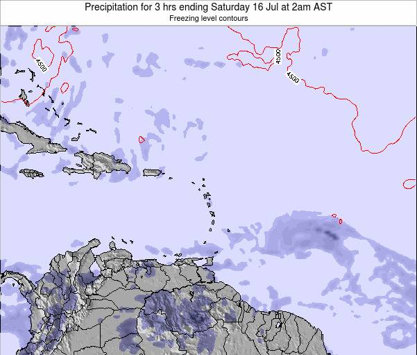 Saint Kitts and Nevis Precipitation for 3 hrs ending Sunday 24 Aug at 2pm AST