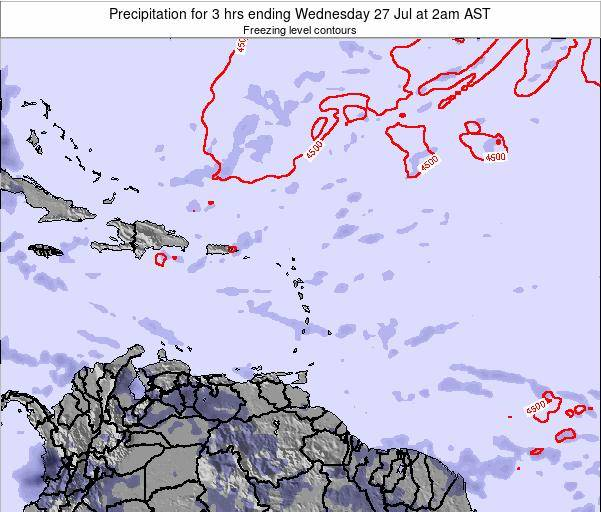 Barbados Precipitation for 3 hrs ending Monday 27 May at 8pm AST map