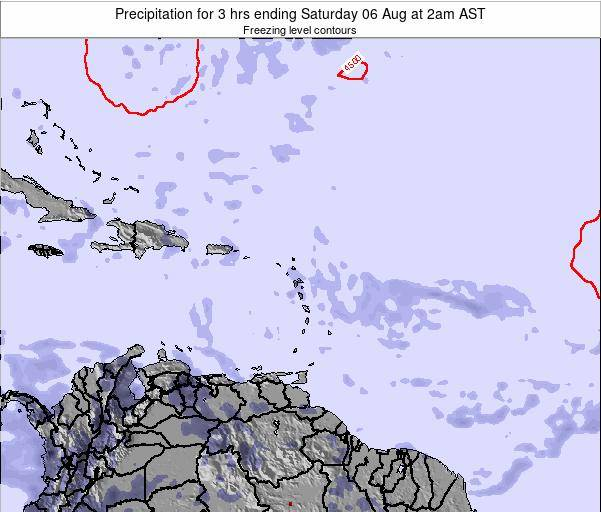Saint Kitts and Nevis Precipitation for 3 hrs ending Saturday 26 Apr at 8pm AST