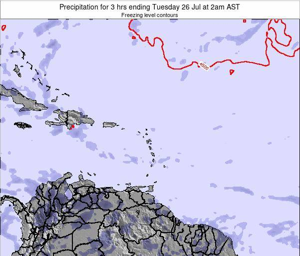 Puerto Rico Precipitation for 3 hrs ending Monday 27 May at 2pm AST