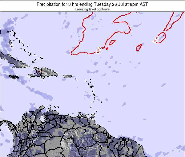 Montserrat Precipitation for 3 hrs ending Saturday 22 Jun at 2am AST