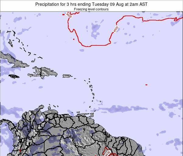 Saint Kitts and Nevis Precipitation for 3 hrs ending Saturday 25 May at 2am AST