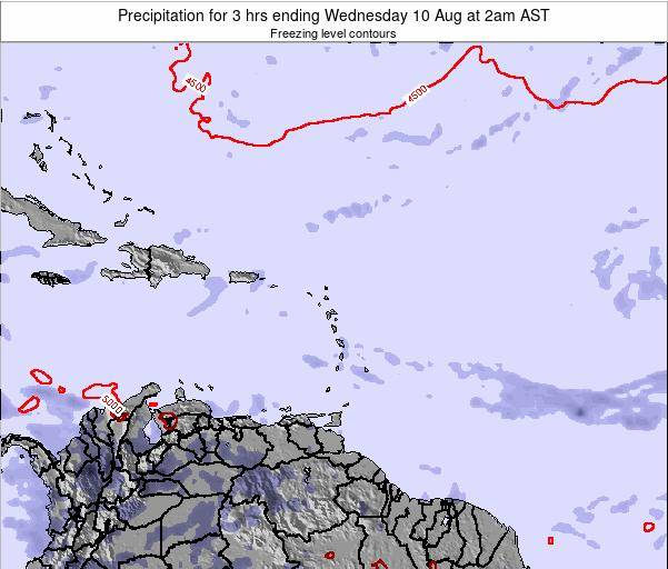 British Virgin Islands Precipitation for 3 hrs ending Sunday 11 Dec at 8am AST