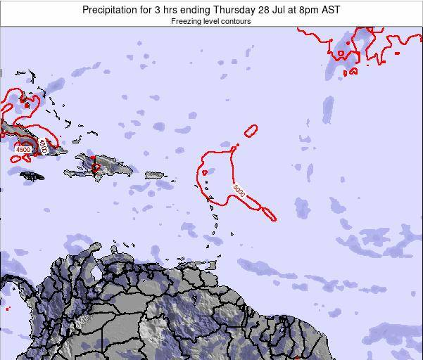 British Virgin Islands Precipitation for 3 hrs ending Saturday 15 Mar at 2am AST