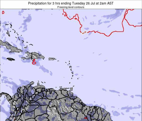 British Virgin Islands Precipitation for 3 hrs ending Saturday 26 Apr at 2pm AST