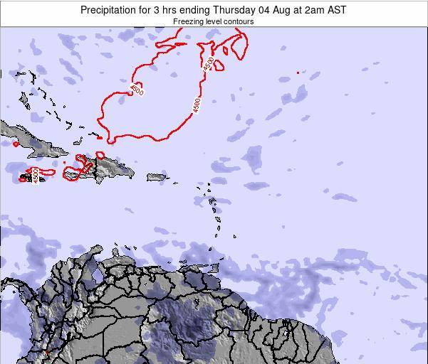 British Virgin Islands Precipitation for 3 hrs ending Tuesday 22 Apr at 2pm AST
