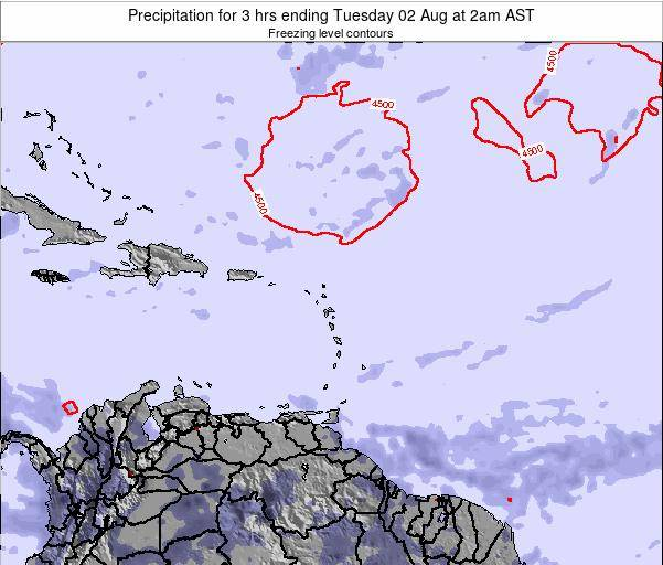 British Virgin Islands Precipitation for 3 hrs ending Saturday 22 Jun at 2pm AST