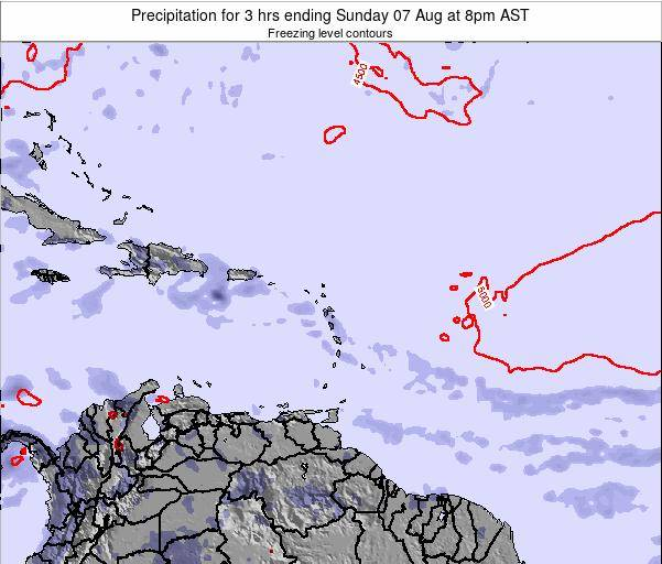 British Virgin Islands Precipitation for 3 hrs ending Sunday 26 Mar at 8pm AST