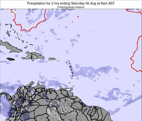 British Virgin Islands Precipitation for 3 hrs ending Wednesday 05 Aug at 2am AST