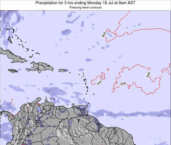 Puerto Rico Precipitation for 3 hrs ending Sunday 27 Apr at 8pm AST