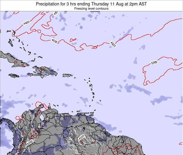 Puerto Rico Precipitation for 3 hrs ending Saturday 15 Mar at 8pm AST