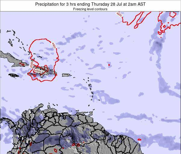Puerto Rico Precipitation for 3 hrs ending Wednesday 28 Mar at 2pm AST map
