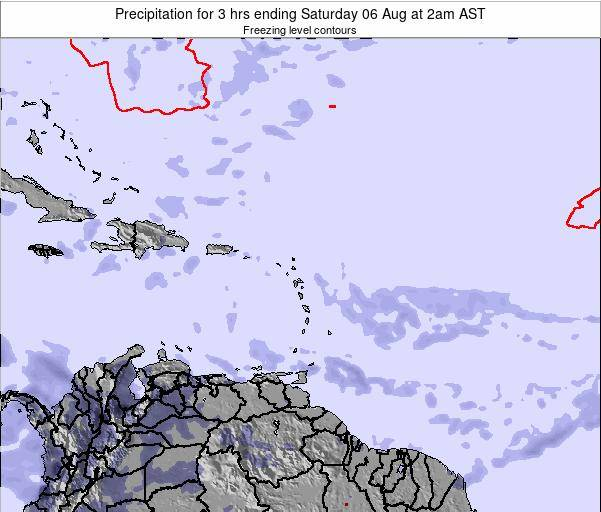 Montserrat Precipitation for 3 hrs ending Thursday 23 May at 2pm AST