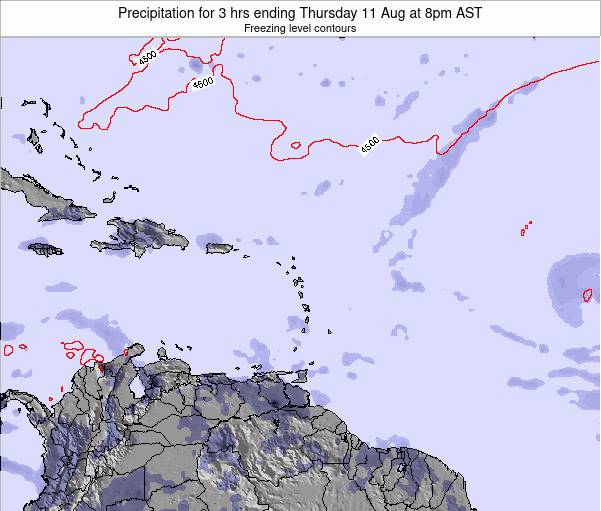 Puerto Rico Precipitation for 3 hrs ending Saturday 19 Apr at 8pm AST