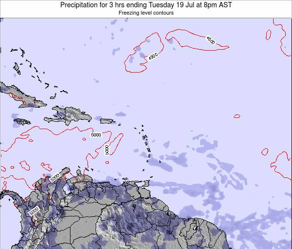 British Virgin Islands Precipitation for 3 hrs ending Wednesday 29 May at 8am AST
