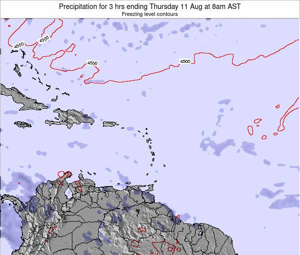 Barbados Precipitation for 3 hrs ending Wednesday 22 May at 8pm AST map