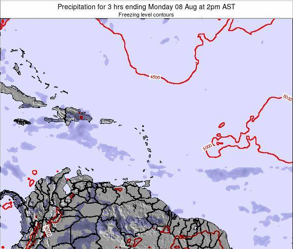 Puerto Rico Precipitation for 3 hrs ending Saturday 22 Jun at 8pm AST