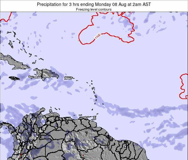 Puerto Rico Precipitation for 3 hrs ending Tuesday 05 Aug at 8pm AST