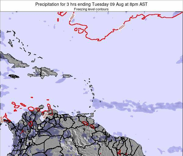 Puerto Rico Precipitation for 3 hrs ending Tuesday 29 Jul at 2pm AST