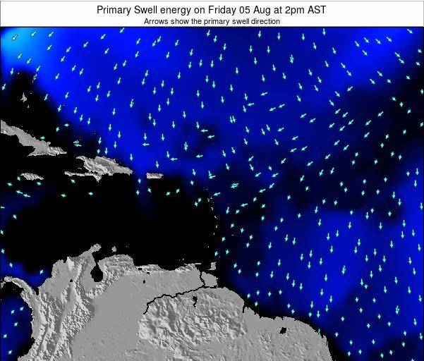 Anguilla Primary Swell energy on Saturday 01 Nov at 2am AST