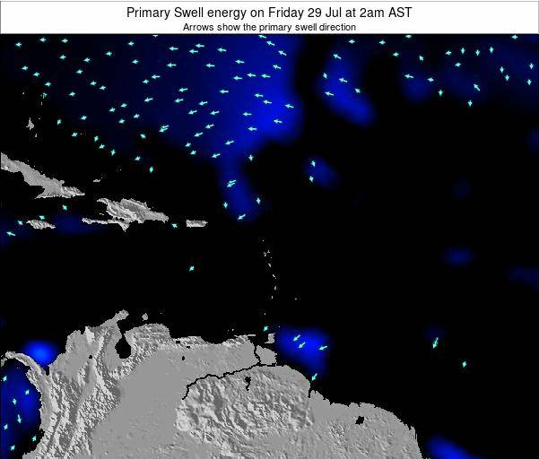 Anguilla Primary Swell energy on Saturday 20 Oct at 8am AST map