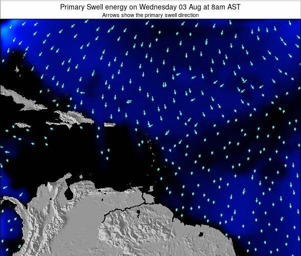 Anguilla Primary Swell energy on Saturday 26 May at 2am AST map