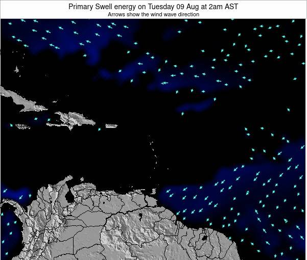 Saint Lucia Primary Swell energy on Tuesday 01 Dec at 8pm AST