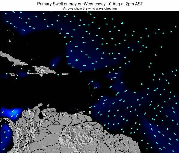 Anguilla Primary Swell energy on Thursday 13 Mar at 8am AST
