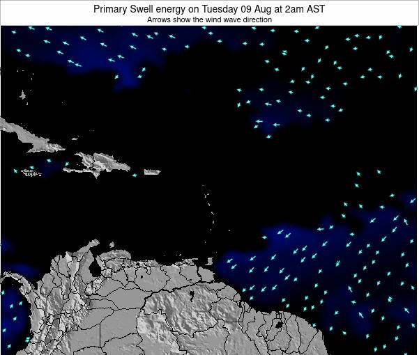 Barbados Primary Swell energy on Monday 17 Jun at 8pm AST