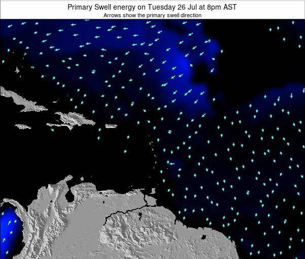 Saint Lucia Primary Swell energy on Friday 13 Dec at 8am AST