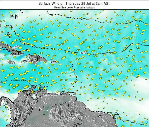 Barbados Surface Wind on Wednesday 29 May at 8pm AST