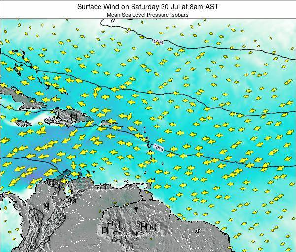 Saint Lucia Surface Wind on Monday 20 May at 8am AST
