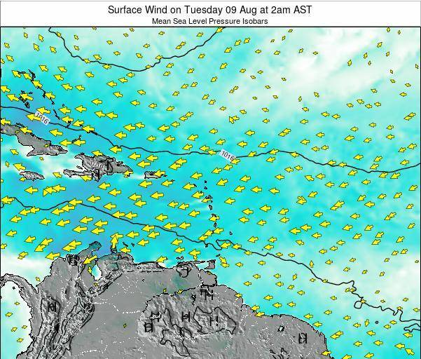 Saint Lucia Surface Wind on Thursday 30 May at 8am AST
