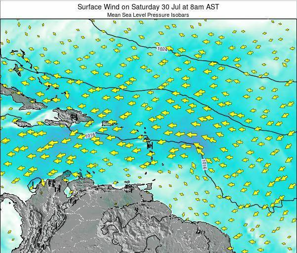 British Virgin Islands Surface Wind on Sunday 16 Mar at 8pm AST